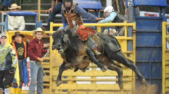 Maryborough's Cordie Fergus is regarded as a rising star in bull riding.