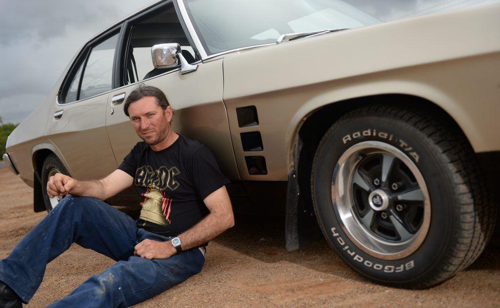Henry Kummerfeld and his Holden GTS.