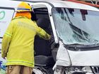 Man trapped as three cars collide on Bargara Rd