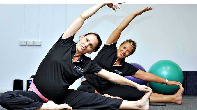 Pilates instructors Marisa Jones and Tracy Marta, at Advantage Pilates in Mooloolaba, are encouraging women to think outside the square when it comes to winter exercise.