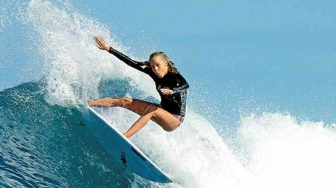 Coolum's Isabella Nichols in action.