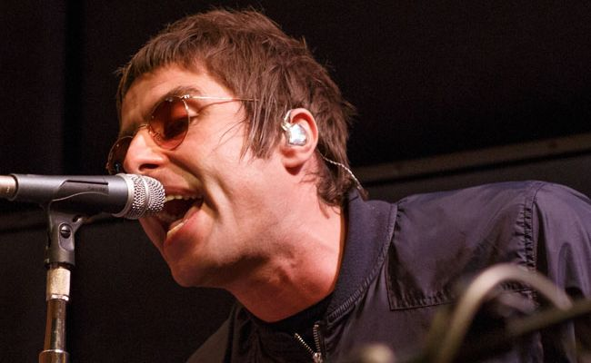 Liam Gallagher at Absolute Radio session.
