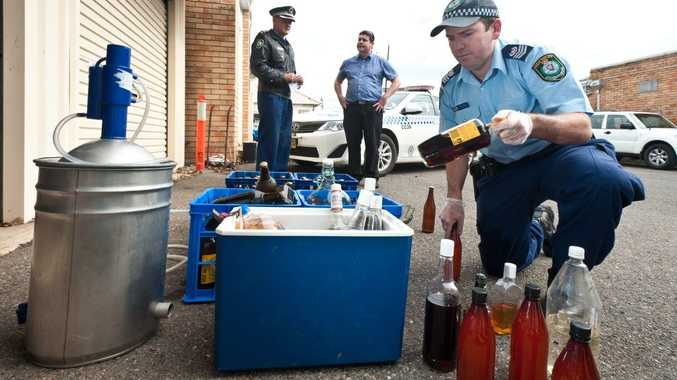Police executed a search warrant on a Boambee house on Thursday and allegedly found an illegal distil.
