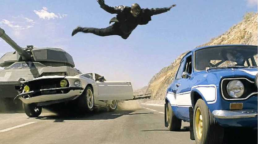 A scene from the movie Fast and Furious 6, which opened on June 6.