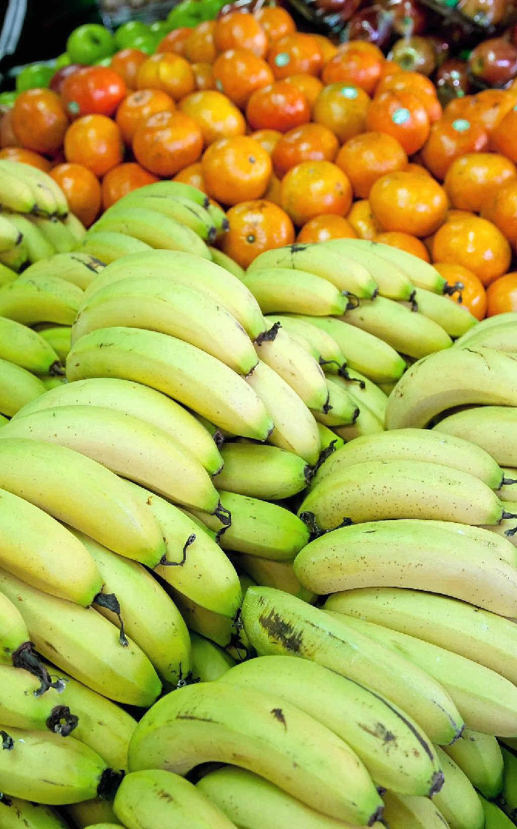 Not quite ripe bananas keep longer