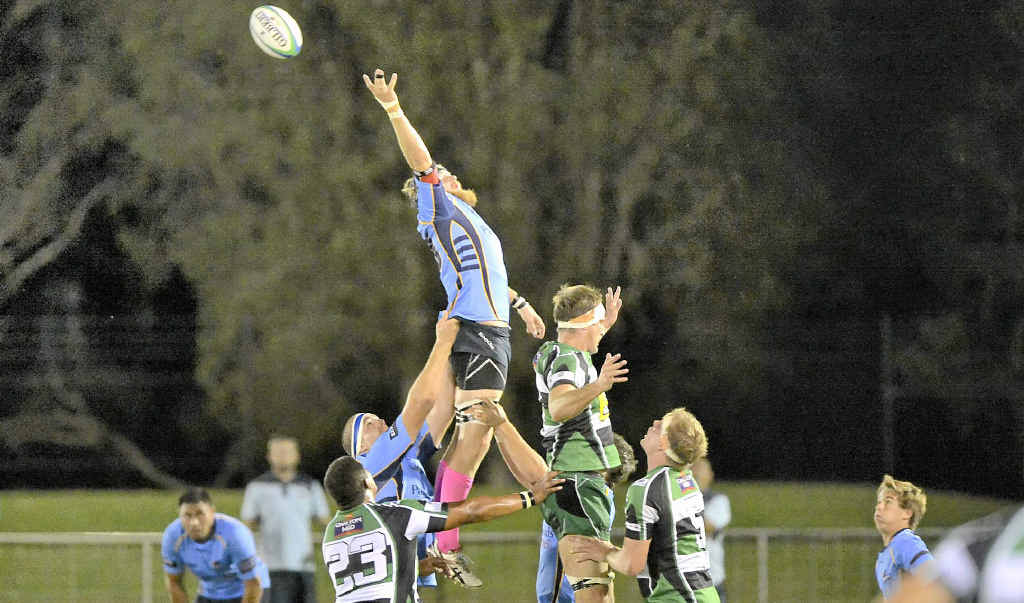 Nambour's Michael O'Connor leaps for the Sunshine Coast Stingrays earlier this season.