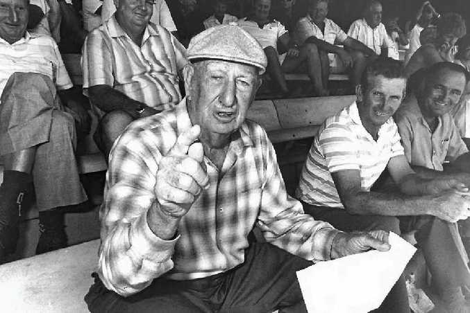 Rex Pilbeam convenes a meeting of the trainers, bookmakers and the Rockhampton Jockey Club to support Minister for Racing, Russell Hinze. Mr Pilbeam was a well-known punter.