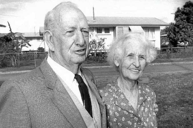 Rex Pilbeam with his wife Barbara, to whom many said he owed a great deal of his success.