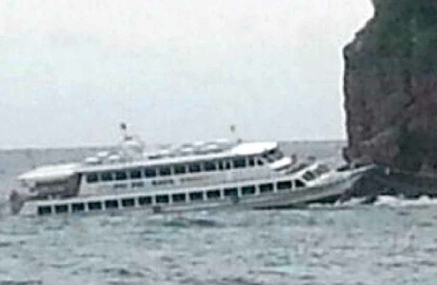 FERRY: The vessel which almost sank near Phuket.