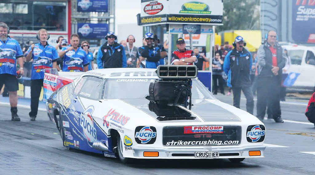 John Zappia unleashes his national record-breaking form at Willowbank Raceway.