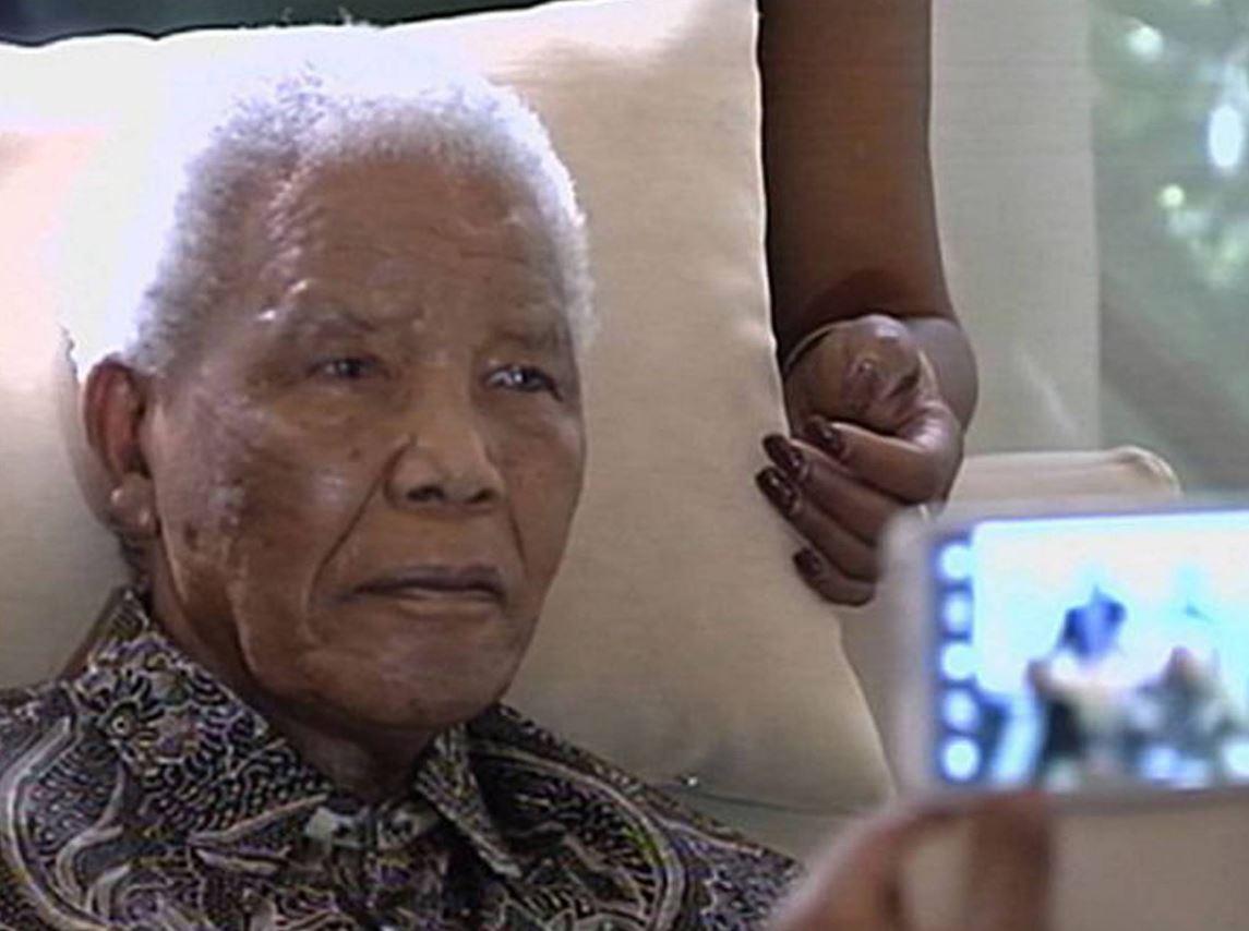 Nelson Mandela in hospital.