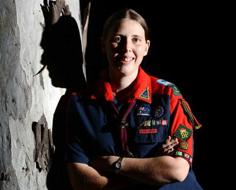 WORTHWHILE JOURNEY: Petah Ritson was presented with the highest scouting award possible, The Baden Powell award.