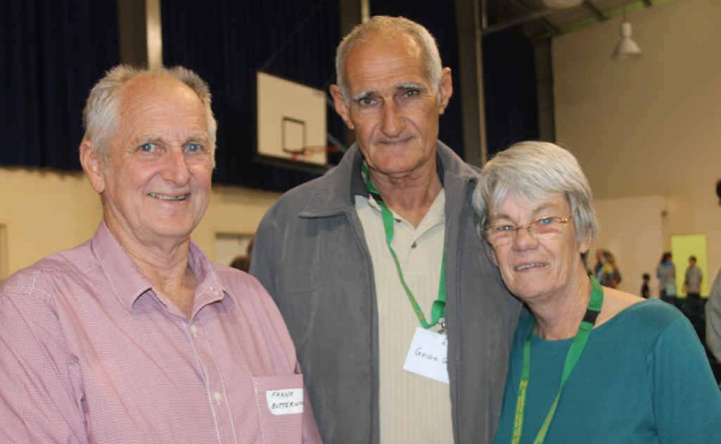 Catching up at Proserpine State High School's Golden Jubilee celebrations at the weekend are past students Frank Butterworth (1964), Guido Gardel (1962) and Ros Gardel, who graduated in 1967 and then taught at the school from 1970-2012.