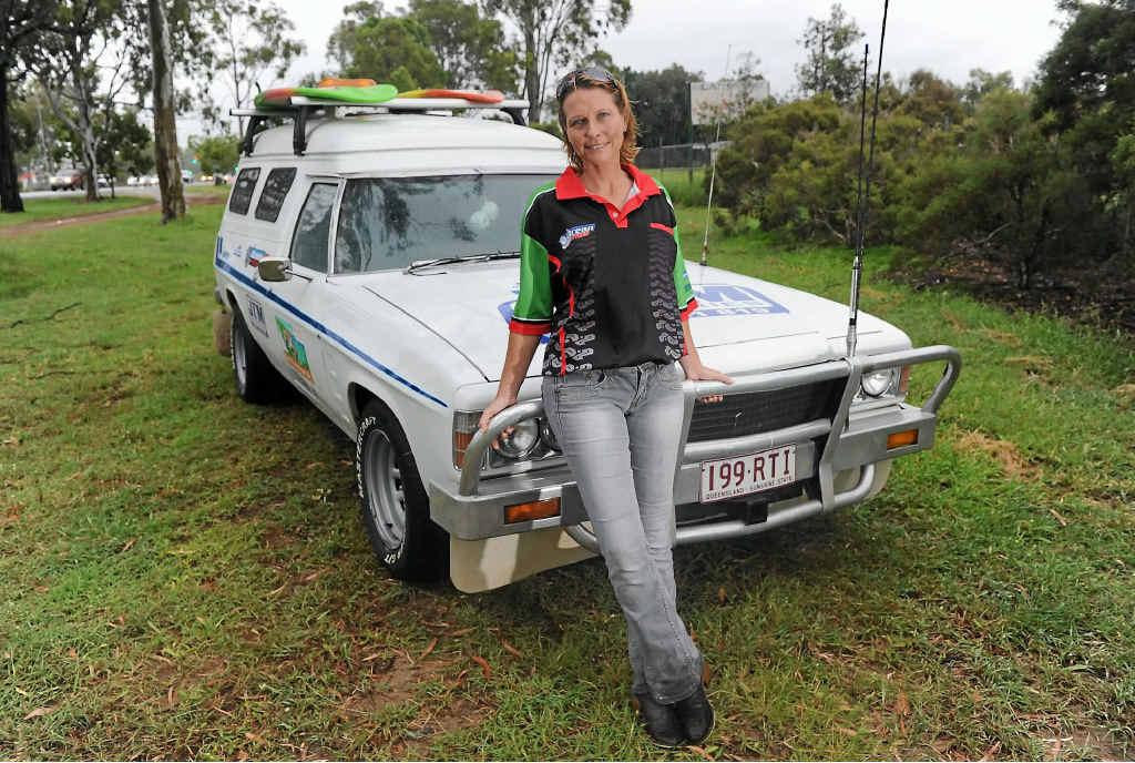 ME AND MY RIDE: Tanya McClintock with her Sandman panel van.