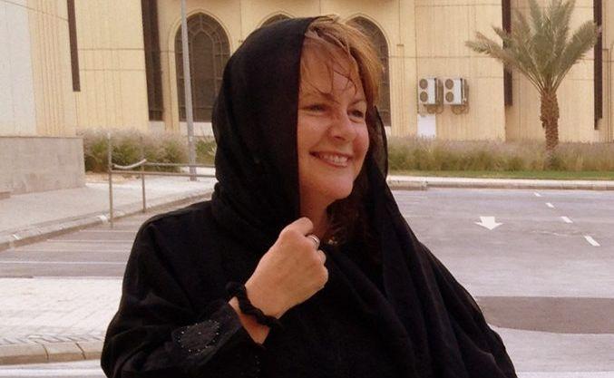 Kim Edwards in Saudi Arabia.