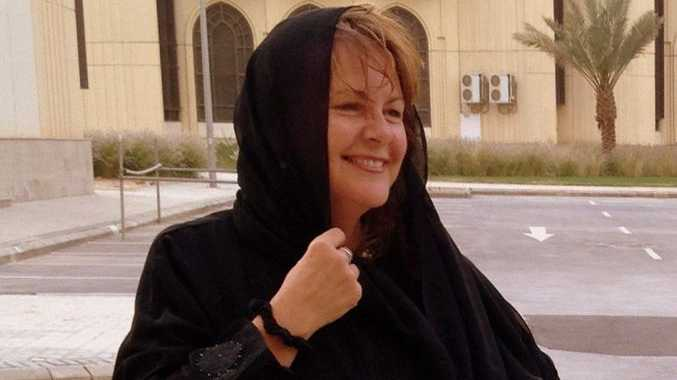 Kim Edwards in Saudi Arabia.