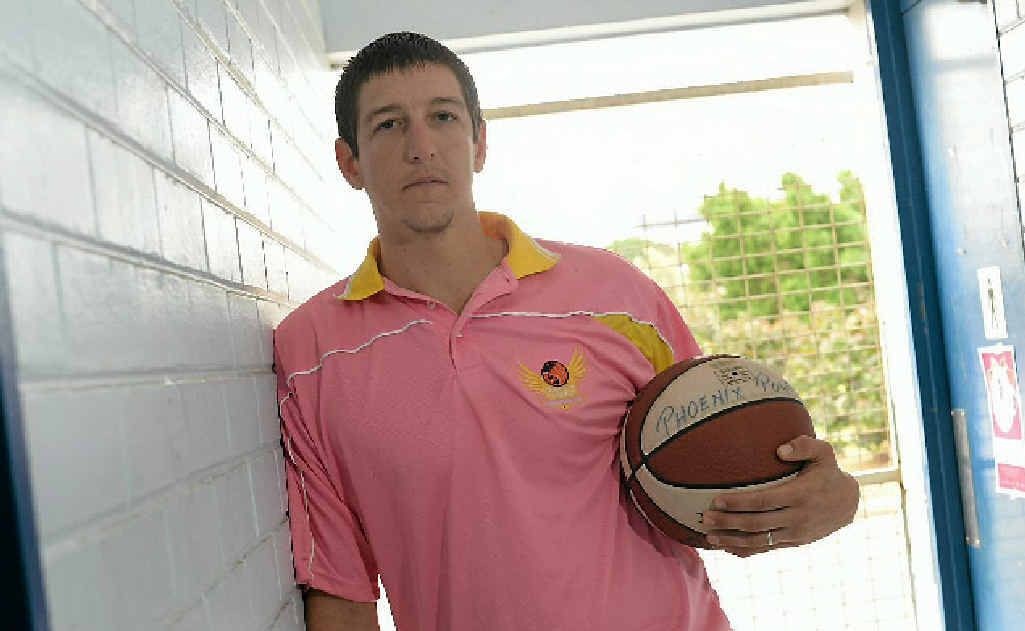 Gladstone Phoenix Power's basketball teams will be wearing pink this weekend to help raise money for the McGrath Foundation. Pictured is coach Dale Iwanicki.