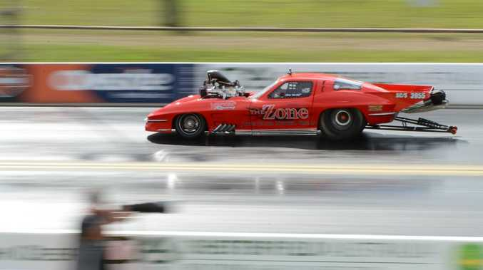 RAW HORSEPOWER: Racing at the first day of the Winternationals event at Willowbank Raceway yesterday.