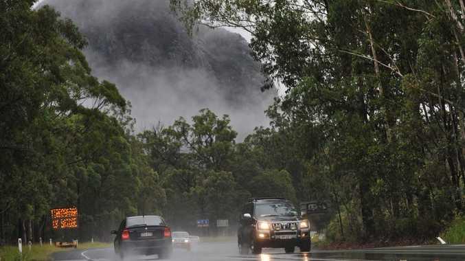 A car crash has blocked Steve Irwin Way this morning.