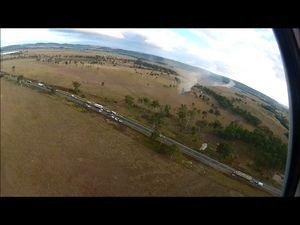 Two vehicles, one towing a caravan, crash near Gayndah