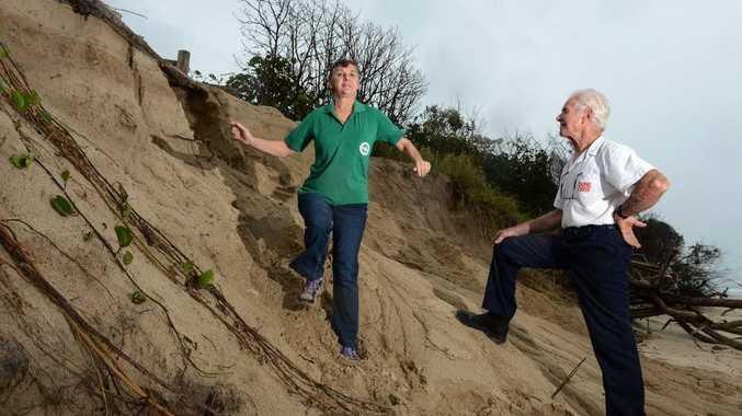 Erosion at Fingal Beach. Kay Bolton and Ian