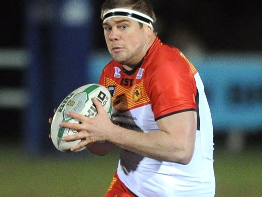 Remi Casty of Catalan Dragons attacks during the Super League match between London Broncos and Catalan Dragons at Molesey Road on March 28, 2013 in Hersham, England.