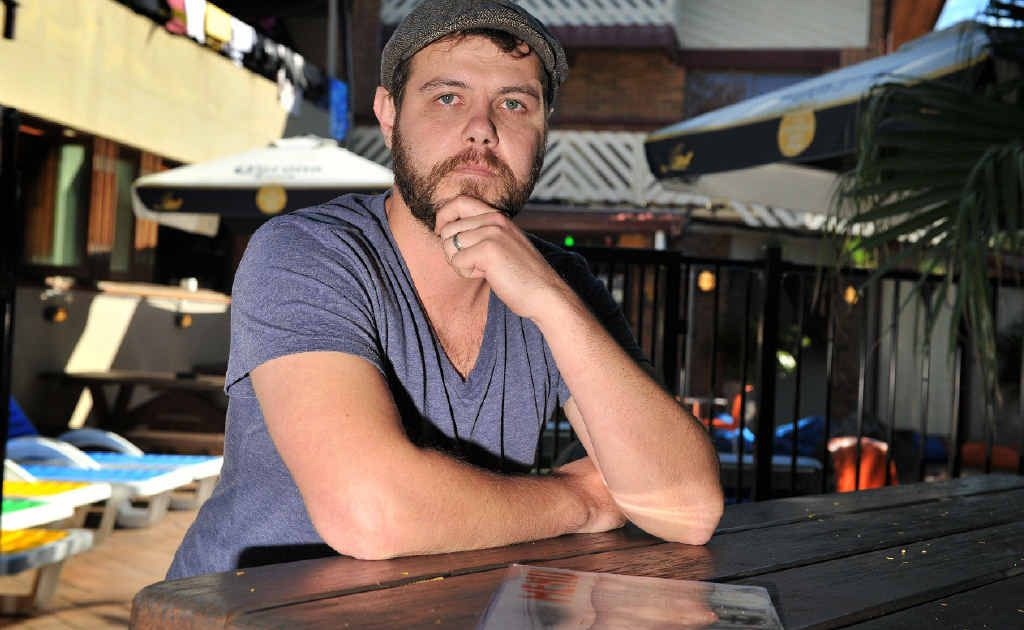 DON'T BE MY GUEST: Chris Schneider, food and beverage manager at Aquarius Backpackers in Byron Bay, says about 20 staff will be laid off indefinitely.