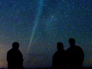 Stargazers on cloud nine as comet approaches