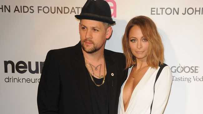 Joel Madden with wife Nicole Richie