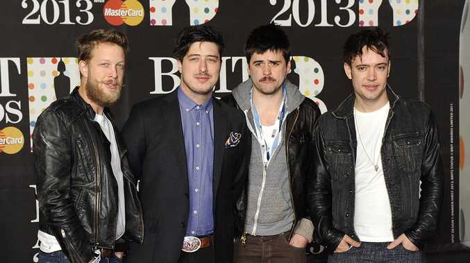 (From left) Ted Dwane, Marcus Mumford, Winston-Marshall and Ben Lovett of Mumford & Sons.