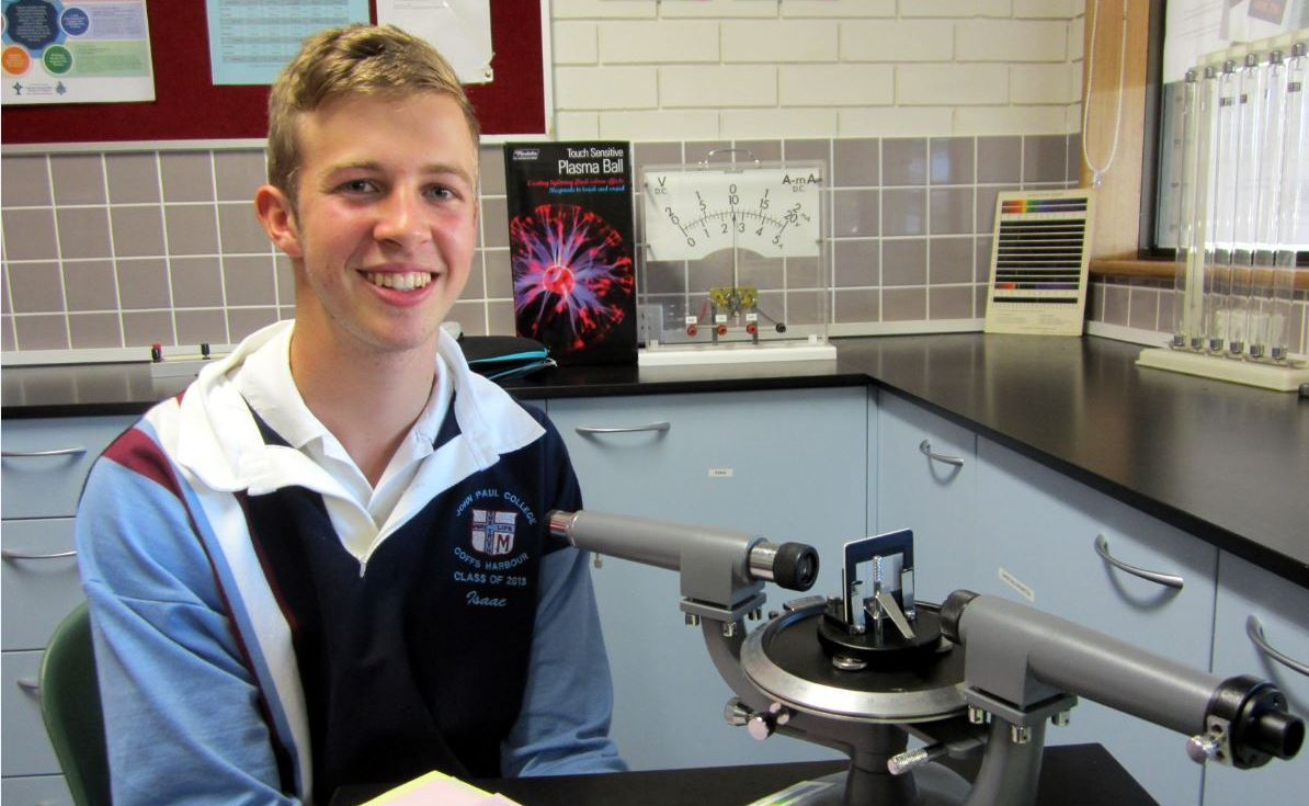 John Paul College Year 12 student Isaac Vorreiter has won a place at an international science fair.