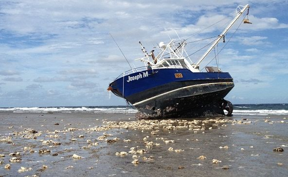 Hervey Bay trawler Joseph M  which ran aground at Lady Elliot Island has been refloated and is being towed to Bundaberg.