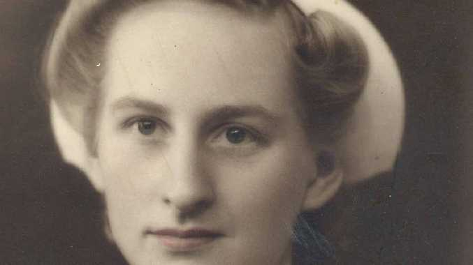 Young nurse Myrtle Findlay in the 1940s.