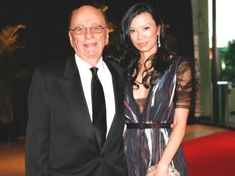 Rupert Murdoch with former wife Wendi Deng.