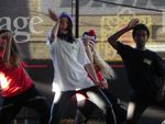 Sole Studios hip hop dancers perform at the Sunshine Coast show in Nambour.