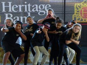 Hip hop dancers at Sunshine Coast Show