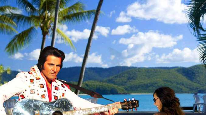 Australian Elvis impersonator Mark Andrew will be one of the acts showcased at the five-day Elvis festival on Daydream Island.