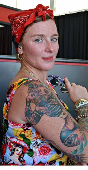 SURVIVOR WITH STYLE: Amylee Williams has a love/hate relationship with her tattoos.