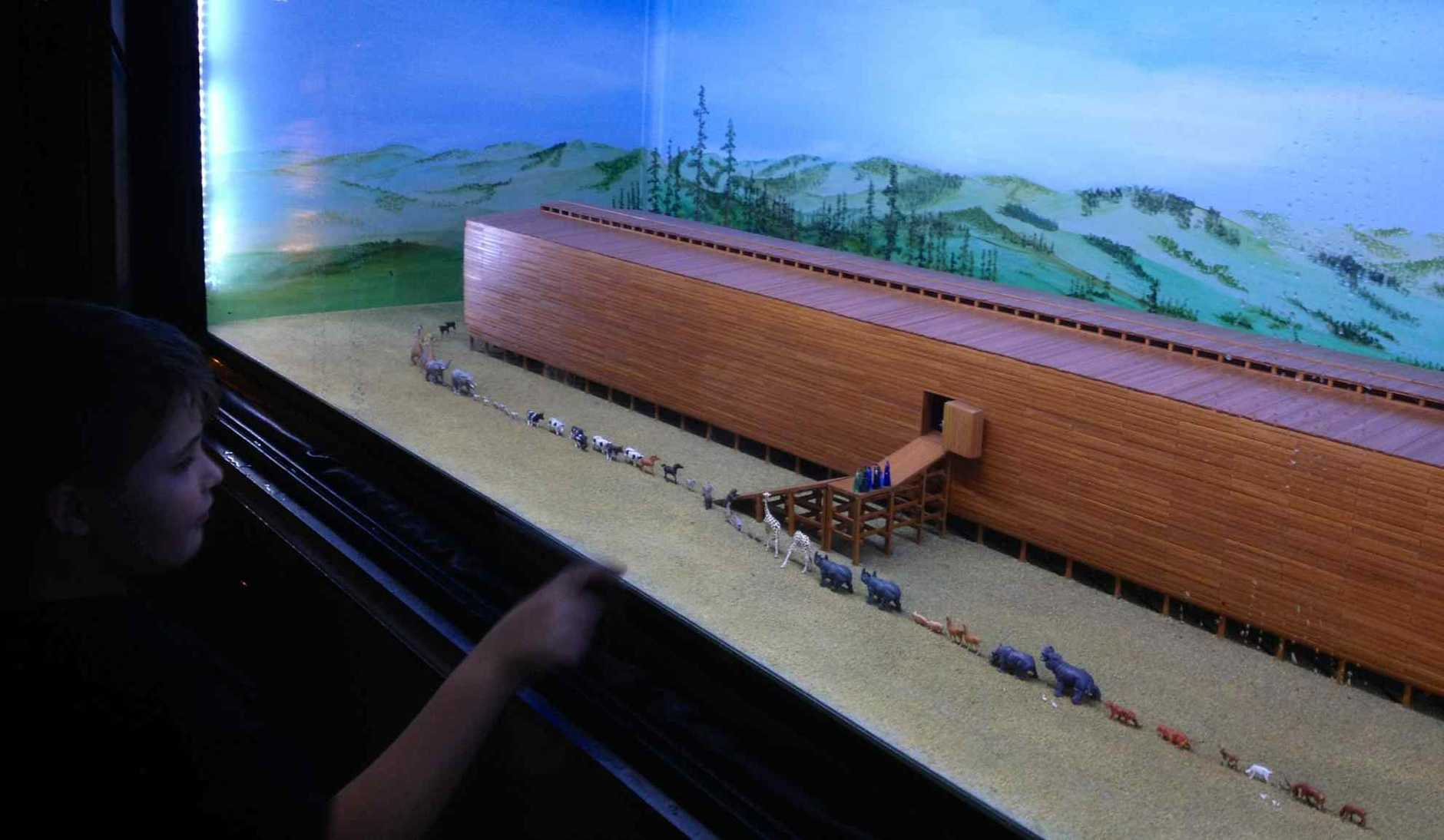 Children have been fascinated by the replica of Noah's Ark.