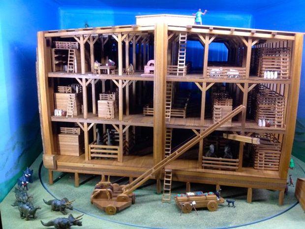Inside Rod Walsh's replica of Noah's Ark