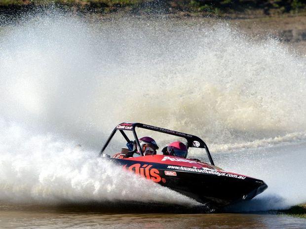 Brooke Dixon, Jet boat racing. Cabarita Beach.