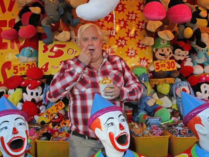 Clive Palmer doesn't mind playing the political clown.
