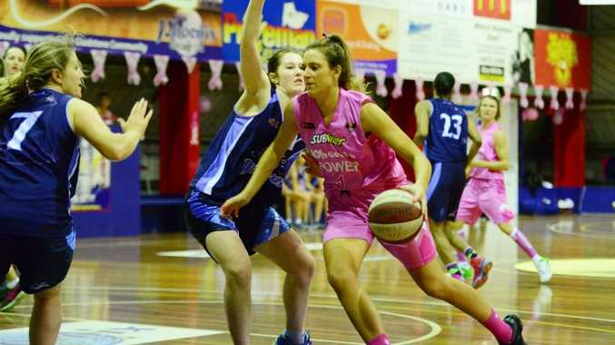 Phoenix Power verse Northside Wizards women's basketball game at the Gladstone Kev Broome Stadium. Smooth score Rachel Pryor. Photo Brenda Strong / The Observer