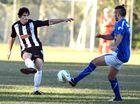 Soccer, Murwillumbah versus Merrimac. Murwillumbah player No 2 Jaiden Walker.