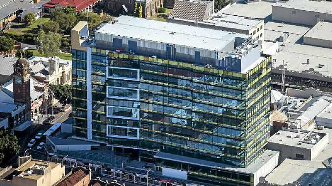 GOING UP: Construction of the Icon Ipswich tower is due for completion in late August.