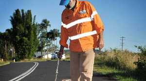 NO MORE: Roa Dart will stop painting around the potholes on our Northern Rivers roads and pursue other artistic endeavours.