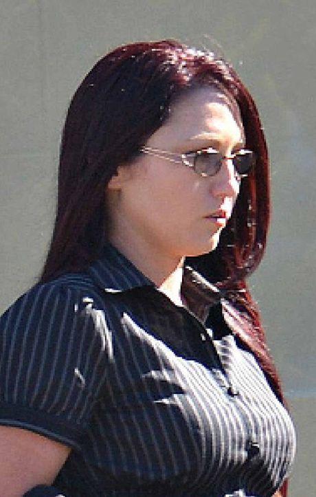 Natasha Larina Evans leaves Mackay court.
