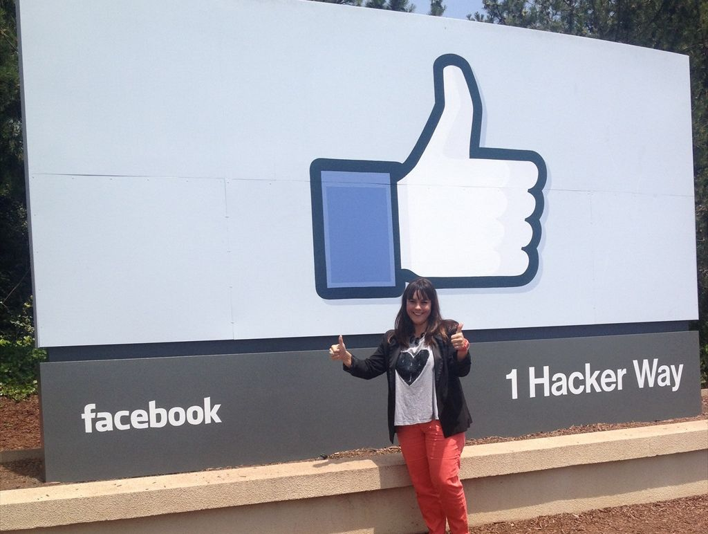Yvette Adams visits Facebook HQ in Silicon Valley.