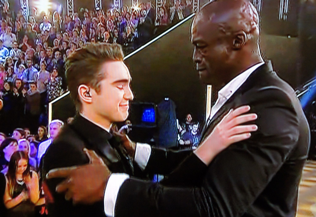Seal congratulates his second winner.