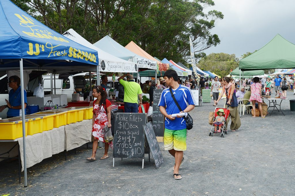 The Byron Bay Farmers Market.
